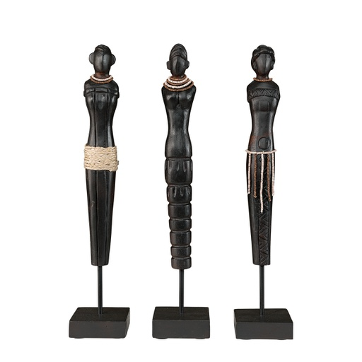 [06-31119] AFRICAN LADIES 3-setti black